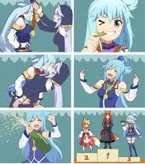 Follow me on amino ►aminoapps.page.link/k2do get anime merch►bit.ly/khornimeanimemerch get memes apparel►bit.ly/khornimememesmerch. Aqua Win The Goddess Contest Konosuba