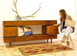 rustic modern – reclaimed barn wood console The Alternative Consumer