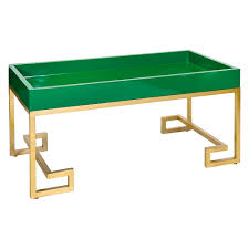 Green Coffee Tables Conrad Emerald Green Lacquer Tray Coffee Table With Gold Leafed