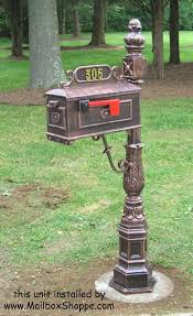 cast aluminum mailbox. Interesting Aluminum Cast Aluminum Pedestal Mailboxes On Aluminum Mailbox E