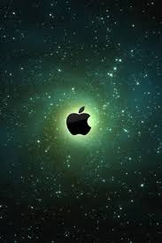 Apple Logo On Galaxy Background IPhone 5 Wallpaper
