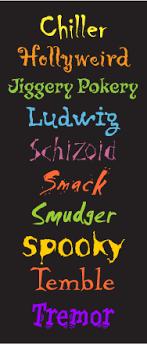 scary com com scary fonts