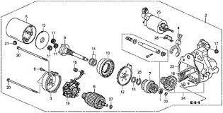 Honda Accord Engine Diagram 2009 Honda Accord Ex V6 Starter Motor Parts Schematic Diagram Car Autos Y Motos Autos Motos