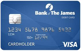 bank of the james visa debit card with cardvalet