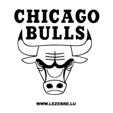bulls logo black and white. To Bulls Logo Black And White