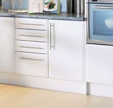 S Bevelled Edge Satin Matt White Kitchen Cupboard Doors Fit Howdens