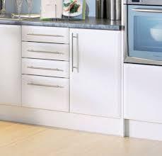 bevelled edge satin matt white kitchen cupboard doors fit