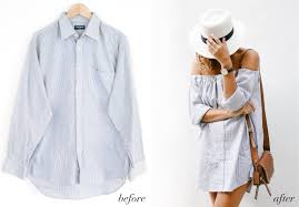 before after men s shirt off the shoulder dress