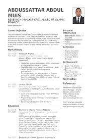 Research Analyst Resume samples