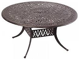round aluminum patio dining table. elizabeth outdoor patio 60\u0026quot; round dining table dark bronze cast aluminum