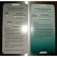 R22 Superheat Subcooling Calculator Charging Chart Cards