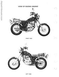 1983 1988 suzuki gn250 motorcycle service manual repair manuals suzuki gn250 manual page 2