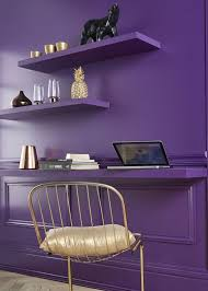 Purple Floating Shelves Cool Violet Wooden Floating Shelves Floating Desk Laptop Metal Chair Gold