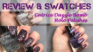 catrice dazzle glitter holo polishes swatches and review