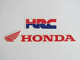 honda racing wheel rim logo sticker