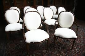 high end dining chairs. 10 High End Round Back Upholstered Dining Chairs Cabriole Legs E