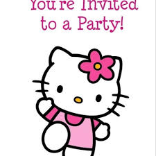 free printable birthday party invitations for girls hello kitty free printable birthday party invitation personalized
