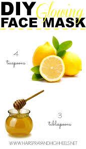 diy lemon honey face mask