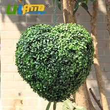 Decorative Boxwood Balls ULAND Love Heart Artificial Boxwood Balls Artificial Plants Ball 10