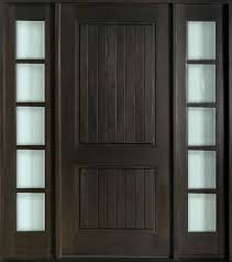 black single front doors. Mahogany Solid Wood Front Door - Single With 2 Sidelites Black Doors