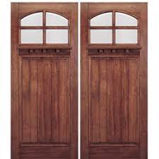 craftsman front door72x80 4Lite Mahogany Craftsman Entry Double Doors with Dentil