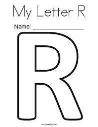 Letter R Coloring Pages My Letter R Coloring Page Letter P Coloring