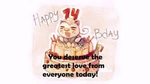 Happy 14th Birthday Quotes Wishesgreeting
