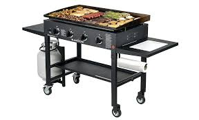 outdoor kitchen propane griddle inch flat top gas grill station 4 s