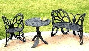 Outdoor Metal Butterfly Bench Chair Garden Is Absolutely Stunning The Black