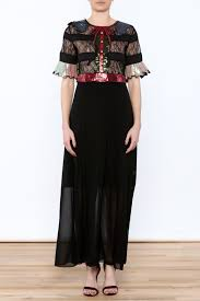 gucci inspired clothing. moon collection gucci inspired gown - front cropped image clothing v