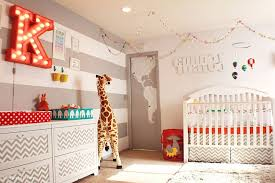 ... Gray And White Striped Accent Wall Is A Popular Choice In The Gender  Neutral Nursery [