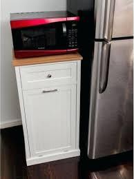 Garbage Cabinet Microwave Kitchen Cart Hideaway Trash Can  Holder Slide   Insert57