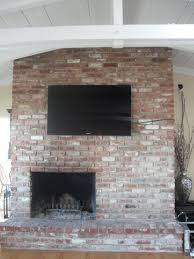how to hide cords on wall mounted tv above brick fireplace image