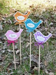 Birdy Flower Marker For Kids Gardening