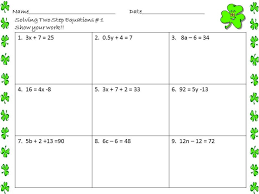 solving two step equations worksheet 7th grade answers tessshlo