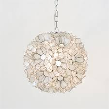 15 pendant chandelier in natural translucent capiz shell by worlds pertaining to light inspirations 4