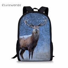 <b>ELVISWORDS Children'S</b> Backpacks Cartoon Deer Pattern Toddler ...