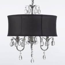 home owners black drum shade crystal chandelier