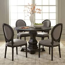 scott living antique black round dining table