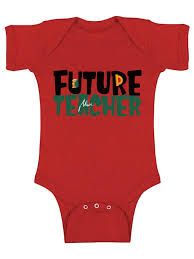 awkward styles future teacher bodysuit short sleeve for newborn baby cute gifts for 1 year old teacher one piece top for baby boy teacher one piece top for