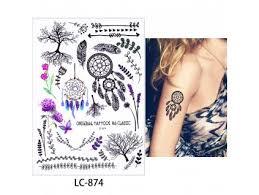 Dočasné Tetovanie Motiv Kvetina Biela Bižutéria Top