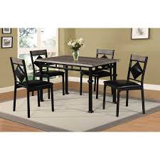 home source industries 5 piece metal dining table set 4395 concept of dining room table top