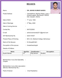 biodata resume in word format resume builder