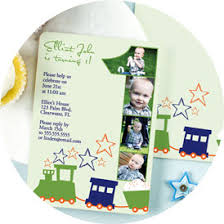 Personalized 1st Birthday Invitations Photo Baby Boy Girl Designs