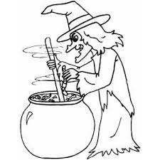 Small Picture Halloween Coloring Pages Printable Witches Coloring Pages