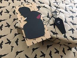 gothic gift wrap set matching gift wrap envelope card