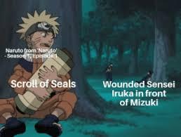 Naruto Sensei Chart Naruto From Naruto Season 1episode 1 Scroll Of Seals