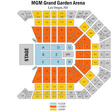 Mgm Garden Arena Seating Chart Ufc Luther Vandross Mgm Grand Garden Arena Seats