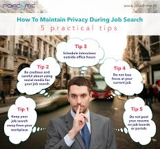 how to maintain privacy during job search practical tips infographic how to maintain privacy while searching for a job
