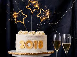 New Years Cake With Champagne Buttercream Recipe Myrecipes